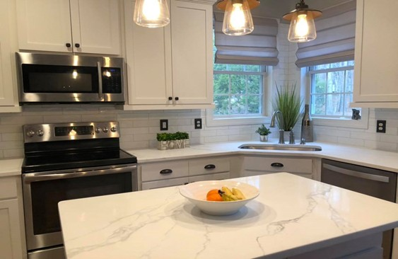 Latest Kitchen Renovation: glossy white subway tile ...
