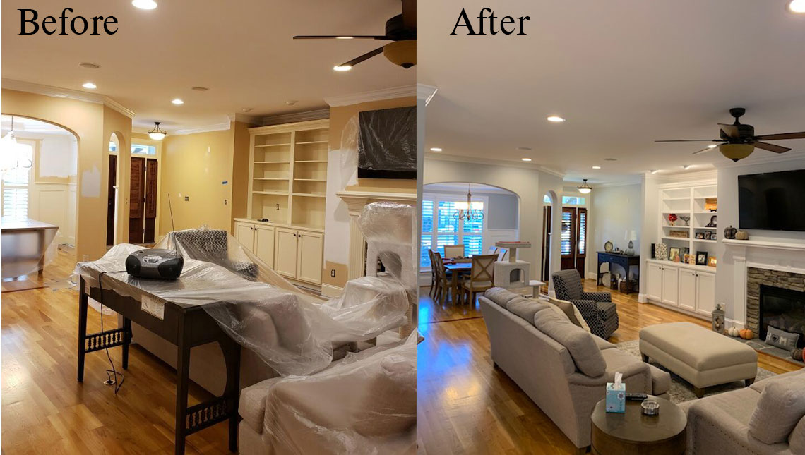Before and After of Living Space