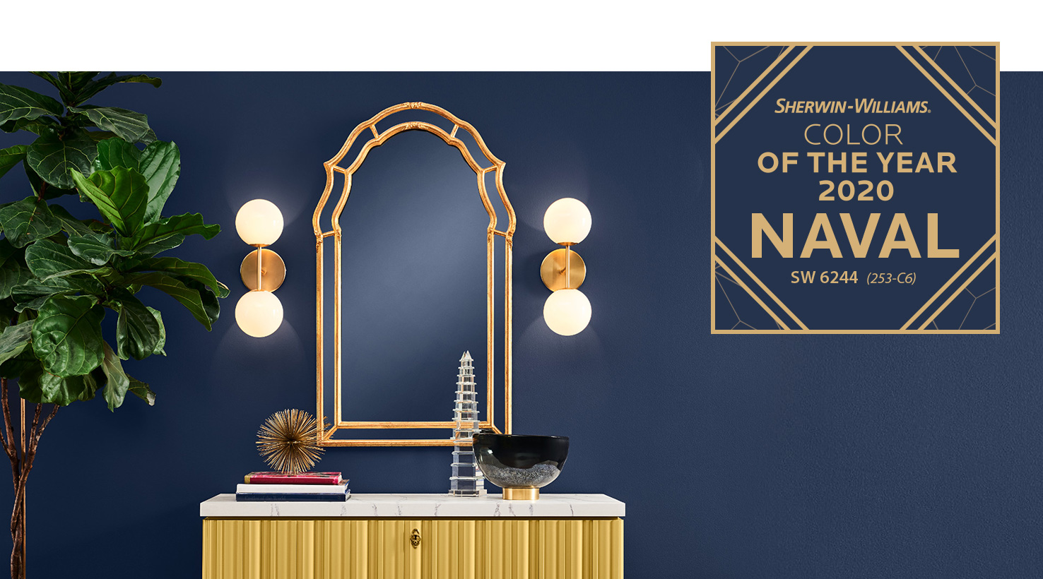 Sherwin-Williams Color of the Year 2020 - Naval SW 6244