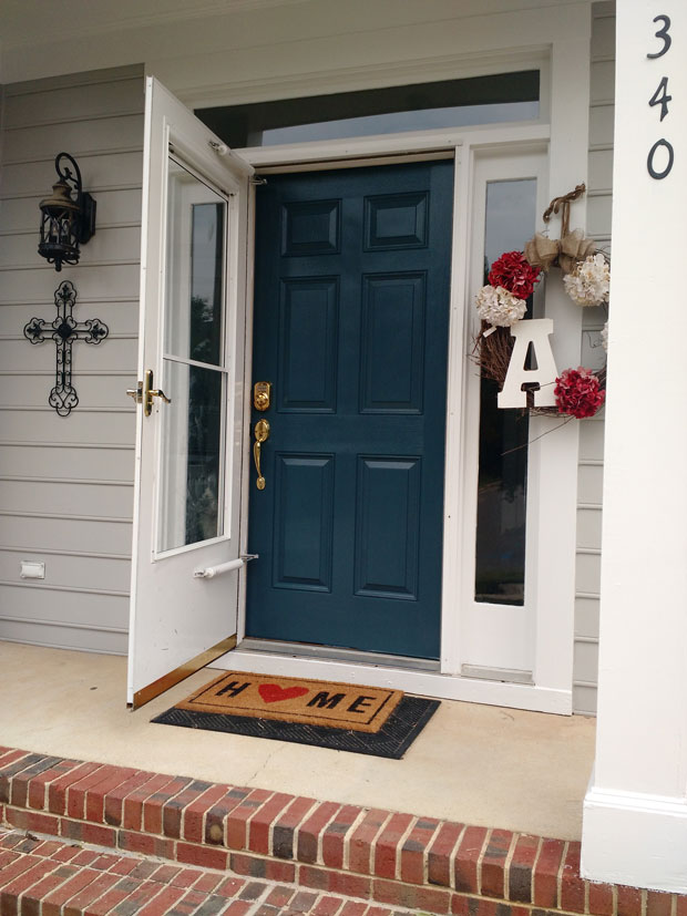 Front Door Painted Blue