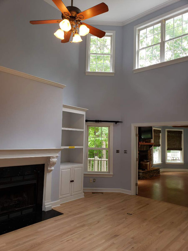Selecting an interior paint color - grey walls